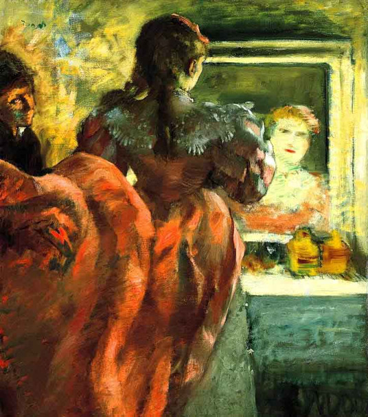 Actress Before The Mirror In Her Dressing Room By Edgar Degas By Edgar Degas