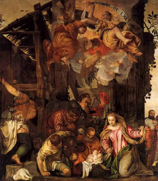 Adoration Of The Shepherds By Paolo Veronese