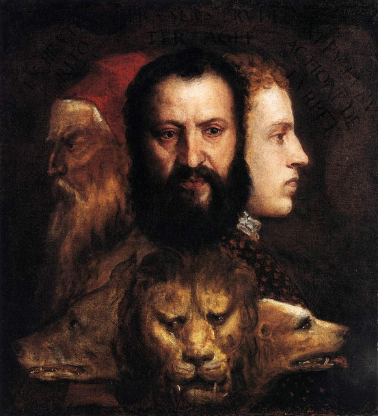 Allegory Of Time Governed By Prudence By Titian