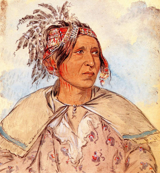 Pah Mee Cow Ee Tah, The Man Who Tracks, Peoria By George Catlin By George Catlin