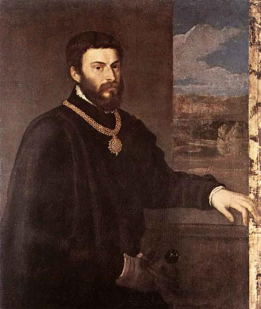 Portrait Of Count Antonio Porcia By Titian