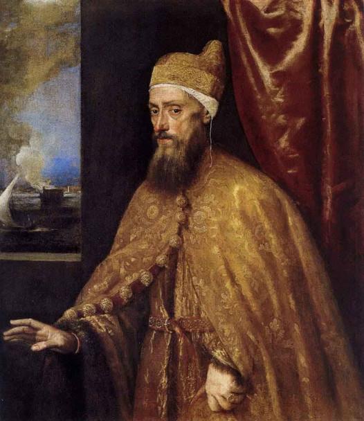 Portrait Of The Doge Francesco Venier By Titian