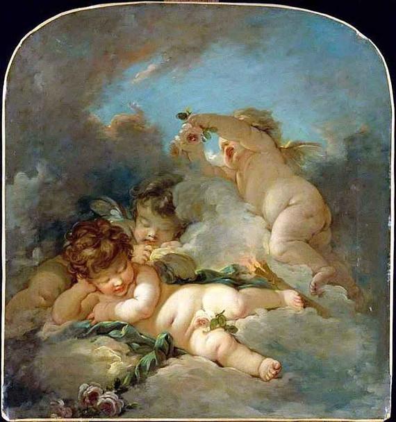 Putti Sleeping By Francois Boucher