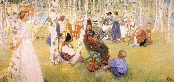 Breakfast In The Open By Carl Larsson