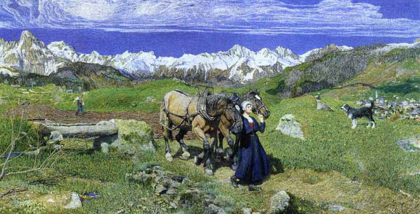 Springtime In The Alps By Giovanni Segantini