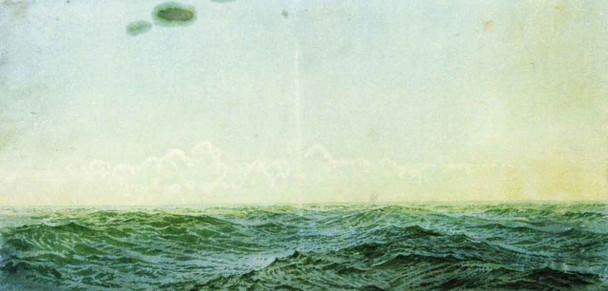 Swell Of Waves In Open Sea By William Trost Richards By William Trost Richards