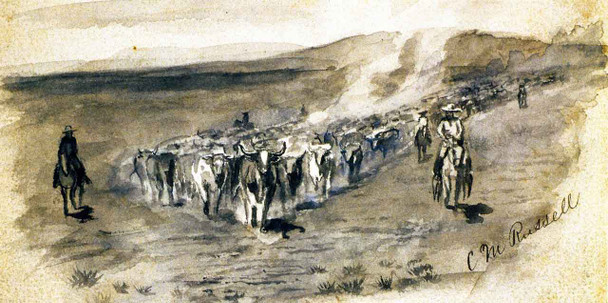 The Roundup By Charles Marion Russell