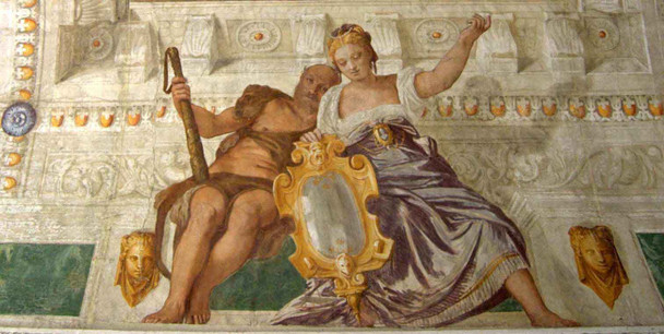 Villa Barbaro Prudence And Manly Virtue By Paolo Veronese