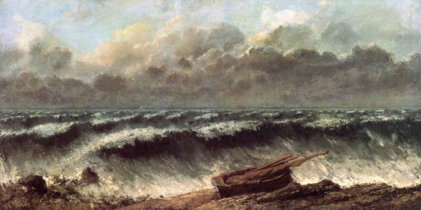 Waves By Gustave Courbet