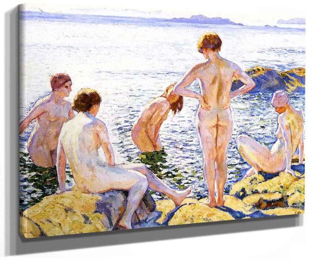 Bathers 1 By Theo Van Rysselberghe
