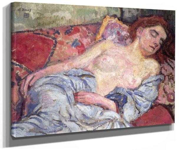Nude On A Divan By Theo Van Rysselberghe
