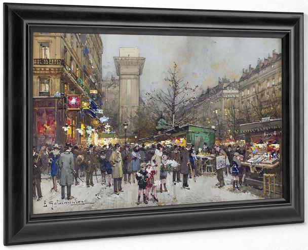 Porte Saint Denisa by Eugene Galien Laloue