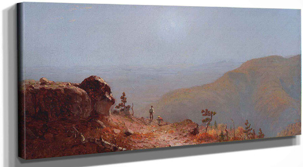 Study For View From South Mountain In The Catskills by Sanford Robinson Gifford
