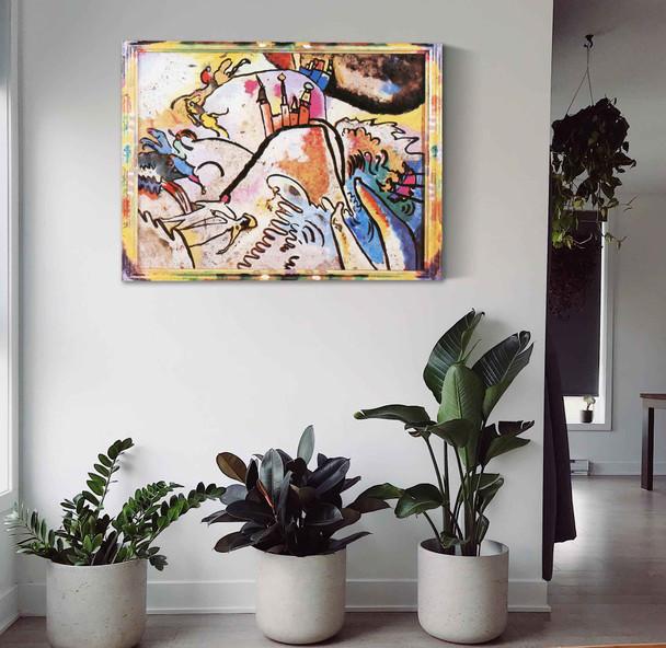 Painting On Glass With Sun Vasili Kadinsky