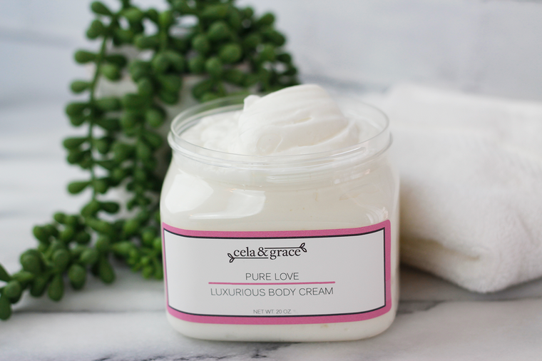 Whipped and luxurious body cream