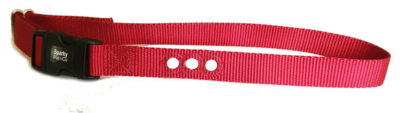 """1 Sparky Pet Co 1"""" 3 Hole Consecutive Hole Red Fence Collar for PetSafe Systems"""