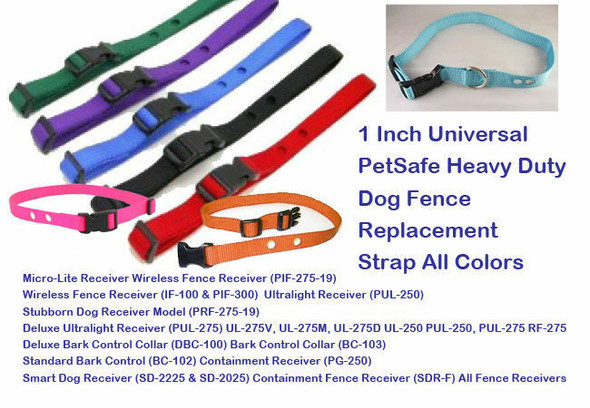 "Sparky Pet Co 1"" Univ. PetSafe Heavy Duty Dog Fence Replacement Strap All Colors"