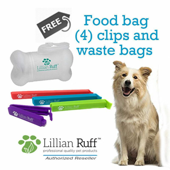 Lillian Ruff Dog Shampoo and Conditioner Travel Set Lunch Box Free Poop Bags,