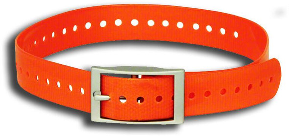 1 Inch Collar, Sq Buckle, Neon Orange Tri-Tronics Compatible By Sparky Pet Co