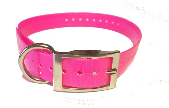 1 INCH Collar, Sq Buckle, Neon Pink  Tri-Tronics Compatible BY Sparky Pet Co