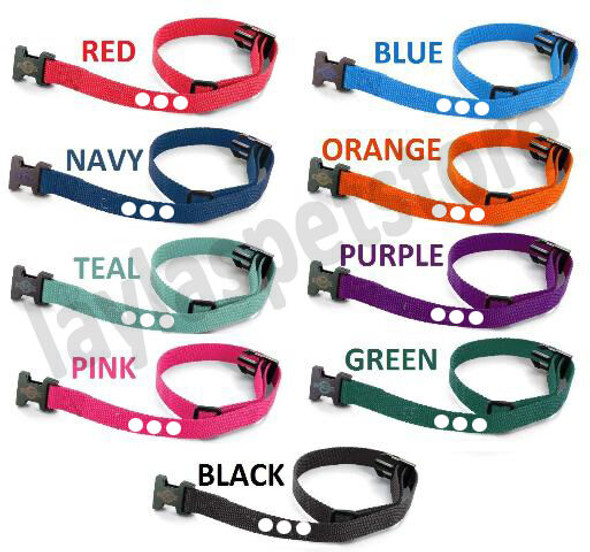 "0 -1"" Nylon Dog Fence Collar Receiver Strap 3 Hole PetSafe PIF 275-19 RFA 48"