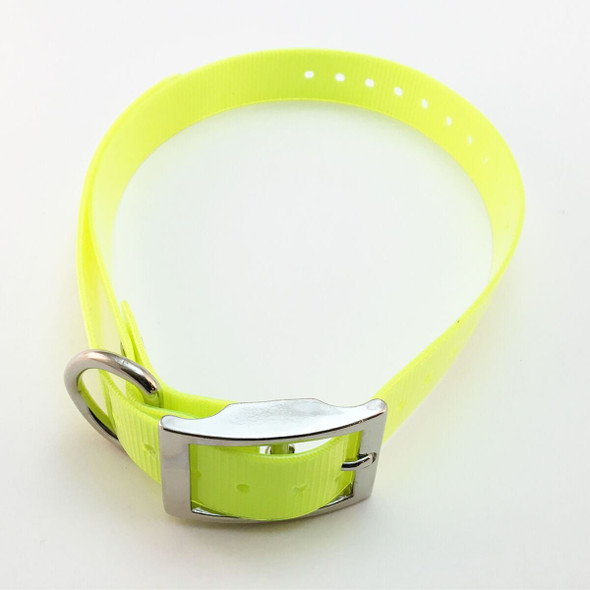 1 Inch Collar, Sq Buckle, Neon Yellow Tri-Tronics Compatible By Sparky Pet Co