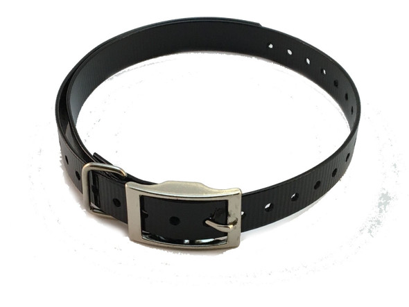 1 Inch Collar, Sq Buckle, Black Tri-Tronics Compatible By Sparky Pet Co
