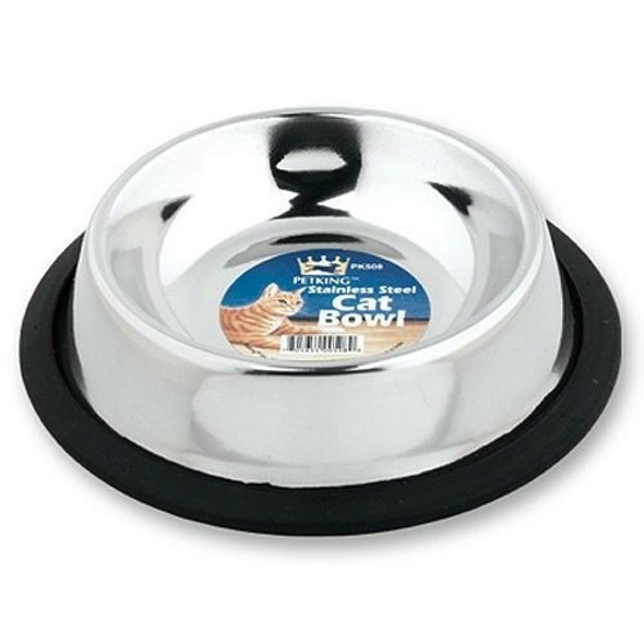 Stainless Steel No-Tip 6oz Pet Bowls (Set of 6)