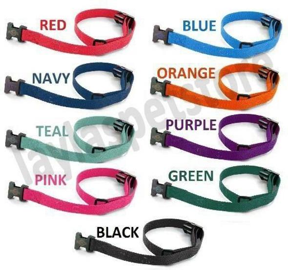 """(3) Nylon 3/4 """" Wide Dog Collar Strap For PetSafe YARDMAX PIG00-11115"""
