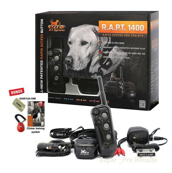 DT Systems Rapid Access Pro Trainer - R.A.P.T.1400 Free Dog Clicker & Flea Comb