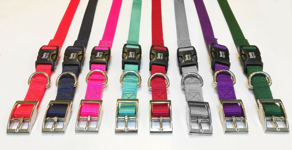 "Sparky Pet Co E-Collar 3/4"" Quick Snap Double Buckle Dog Strap, Raspberry"