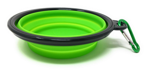 Collapsible Travel Pet Bowl with Clip 5 Inch Diameter