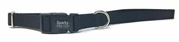 """Sparky Pet 3/4"""" Universal Clip-N-Go Adjustable Nylon Dog Collars-Many Colors"""