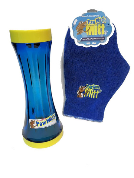 Portable Brushless Dog Paw Washer with Free Drying Mitt Cleans Paws Small
