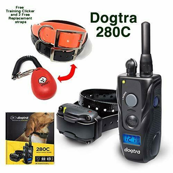 Dogtra 280C Training System with 2 Free Straps & Clicker