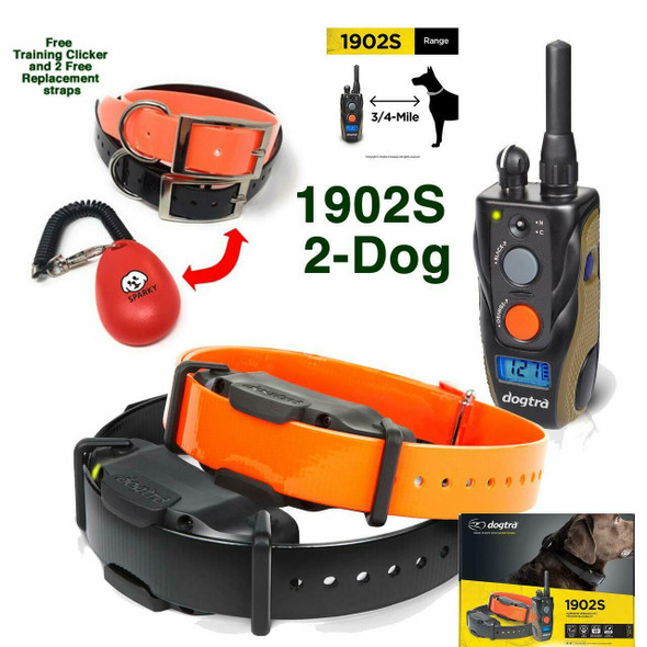 Dogtra 1902S Two Dog Training System with 2 Free Straps & Clicker