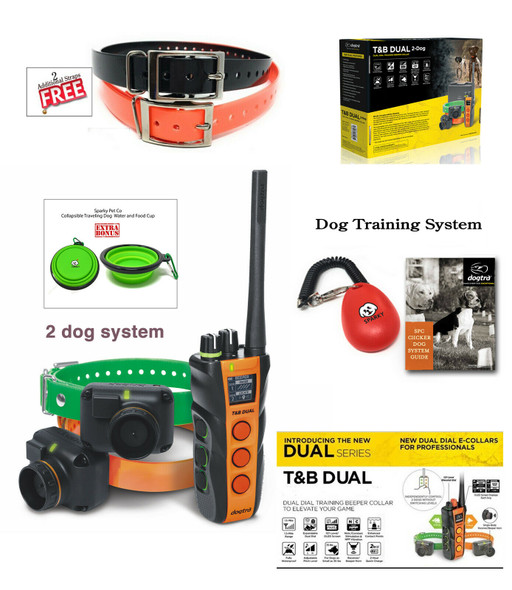 Dogtra 2 Dog Dual Dial Train & Beep,2 Free Replacement Straps Sparky Pet Co Clicker System