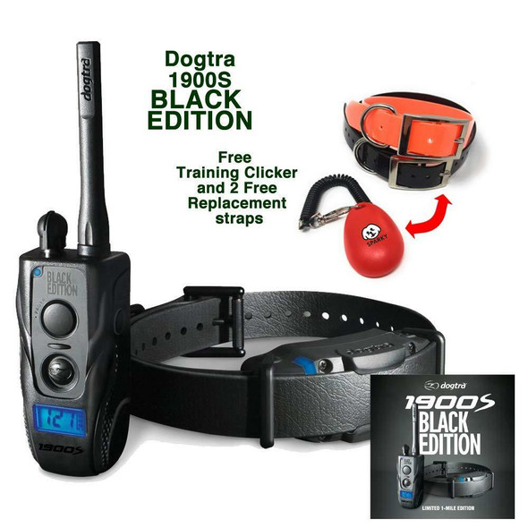 Dogtra 1900S Black Edition Waterproof Dog Remote Training Collar System