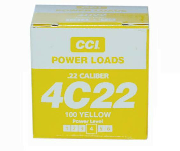 DT Systems .22 Caliber 4C22 Blank Power Loads 100 Yellow 60-80 Yards 88115