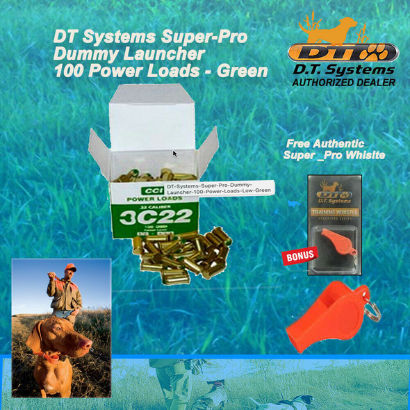 DT Systems Super-Pro Dummy Launcher 100 Power Loads - Free Whistle