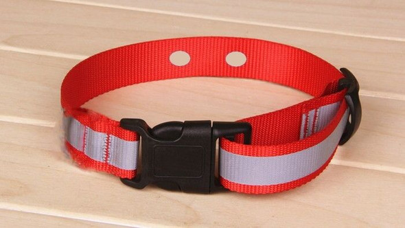 "Dog Fence Collar 1"" Nylon Red Reflective Strap Innotek 2 Hole 1 5/8"" Apart"