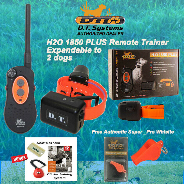 DT Systems H2O 1850 Plus Remote Dog Trainer Beeper- Free Cicker ,Comb, Whistle