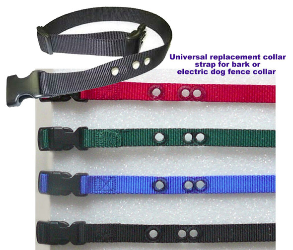 "3/4"" 3 Hole Replacement Collar Strap for Bark or Electric Dog Fence Strap"