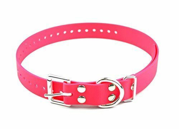 "E-Collar 3/4"" x 28"" Biothane Replacement E-Collar Strap, Neon Pink"