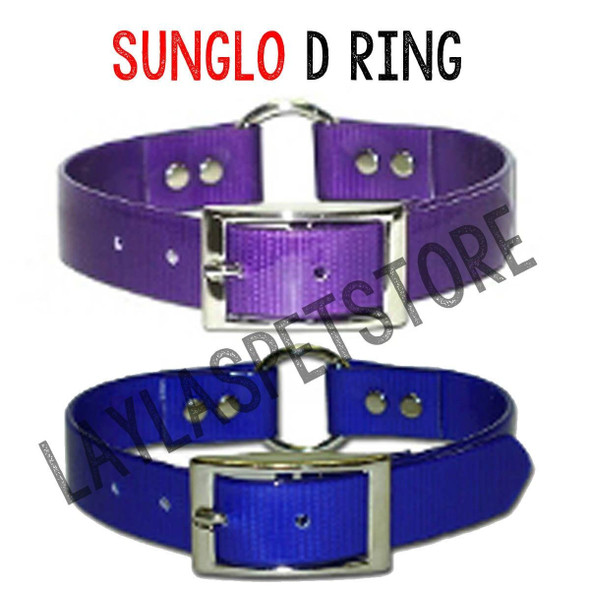 """Sunglo Hi Flex Ring In Center Replacement Sport Dog Strap - Purple-18"""" Long"""