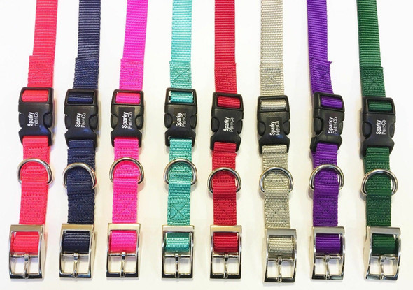 "Sparky Pet Co 3/4"" Heavy Duty Nylon E-Collar Double Buckle Strap-13 Colors"
