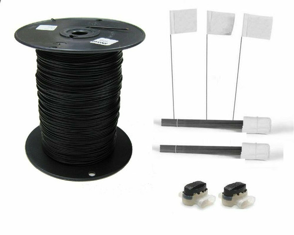 Dog Fence 1000 FT 18 Gauge Boundary Wire 100 Flags 2 Connectors Kit