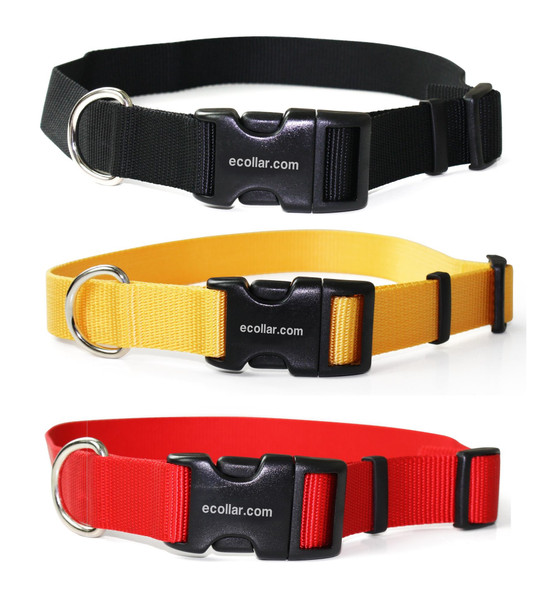 """1""""  Heavy Duty Nylon Replacement Collars Bl- 300 400 Series - Yellow or Red"""