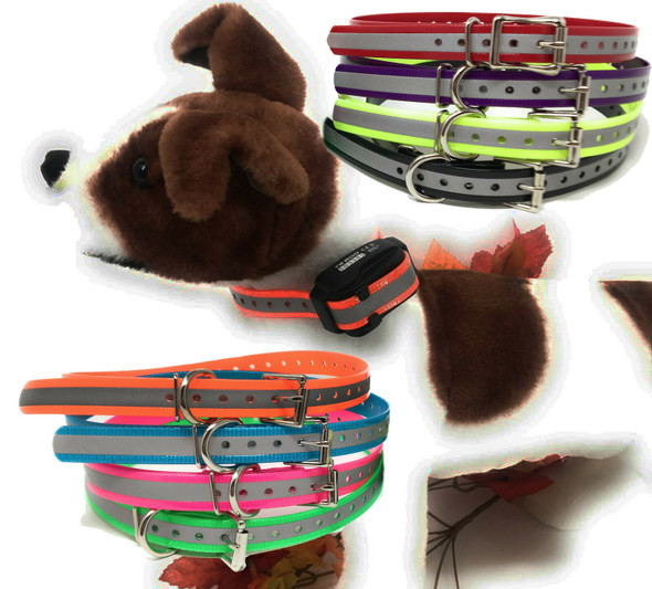 Sparky Pet Co E-Collar Reflective, Waterproof 3/4 Inch Replacement Dog Collar Strap