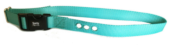 0  Deluxe Bark Collar Compatible Strap PBC-302 PDBC300 Teal& Neon Pink- 3/4""